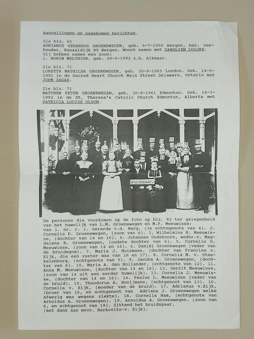 Vijverberg, P.A. - Frederik Dirkszoon Groenewegen en zijn nakomelingen