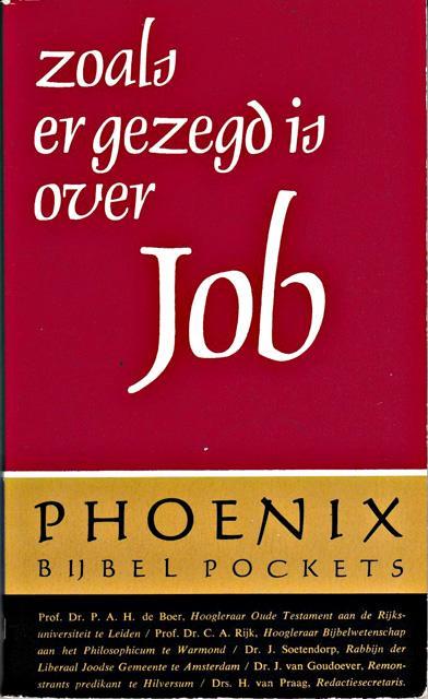 Boer, P.A.H. de, H. van Praag, e.a. - Zoals er gezegd is over Job