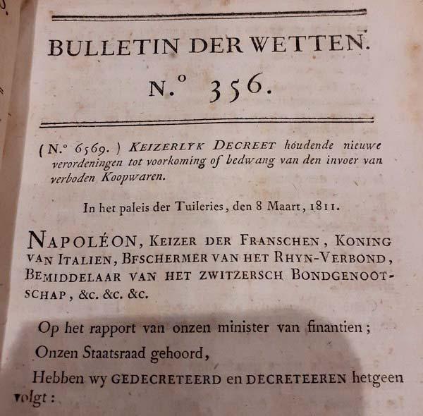 Napoleon - Bulletin der Wetten 355-361 (1811)