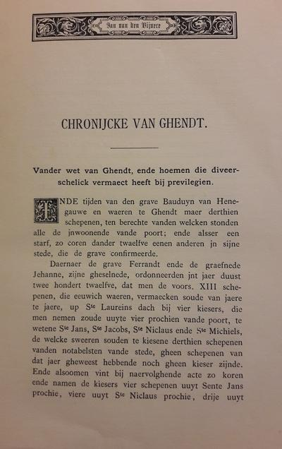 Jan van den Vivere - Chronijcke van Ghendt