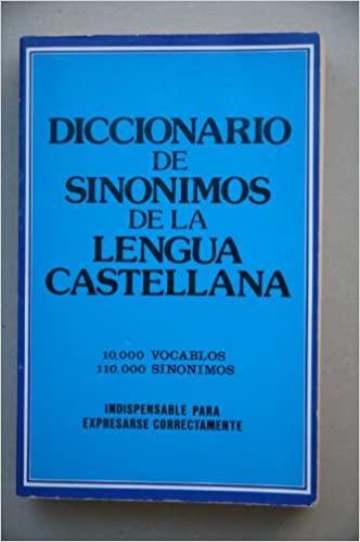 Mateo, Prof J. - Diccionario  de Sinonimos de la lengua Castellana [10.000 vocablos, 110.000 sinonimos