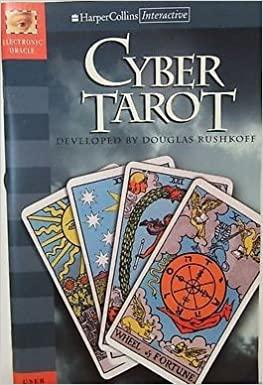 Rushkoff, Douglass - Cyber  Tarot [ Interactive] met 3- [ 3.5 ] floppy discs for Macintosh  + boekje [electronic oracle