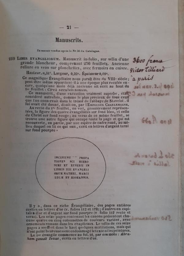Verhulst en Predhom - Catalogue d'une très-belle collection de livres...