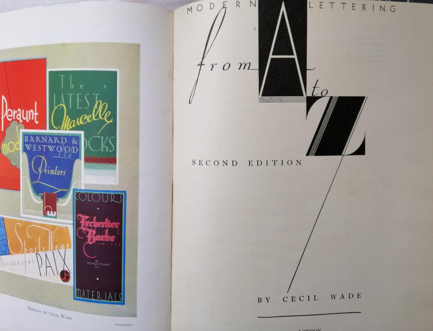 Wade, A. Cecil - Modern Lettering from A to Z.