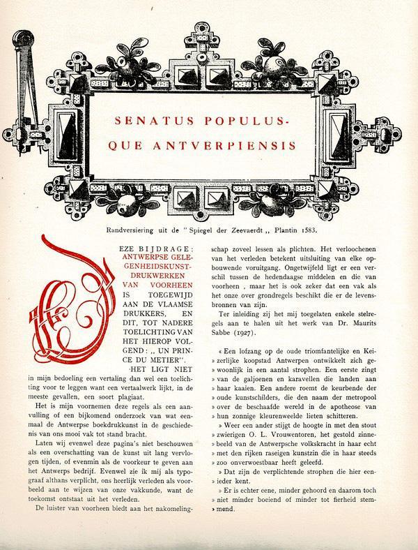 G. Jos Buschmann - Antwerpse gelegenheidskunstdrukken van voorheen