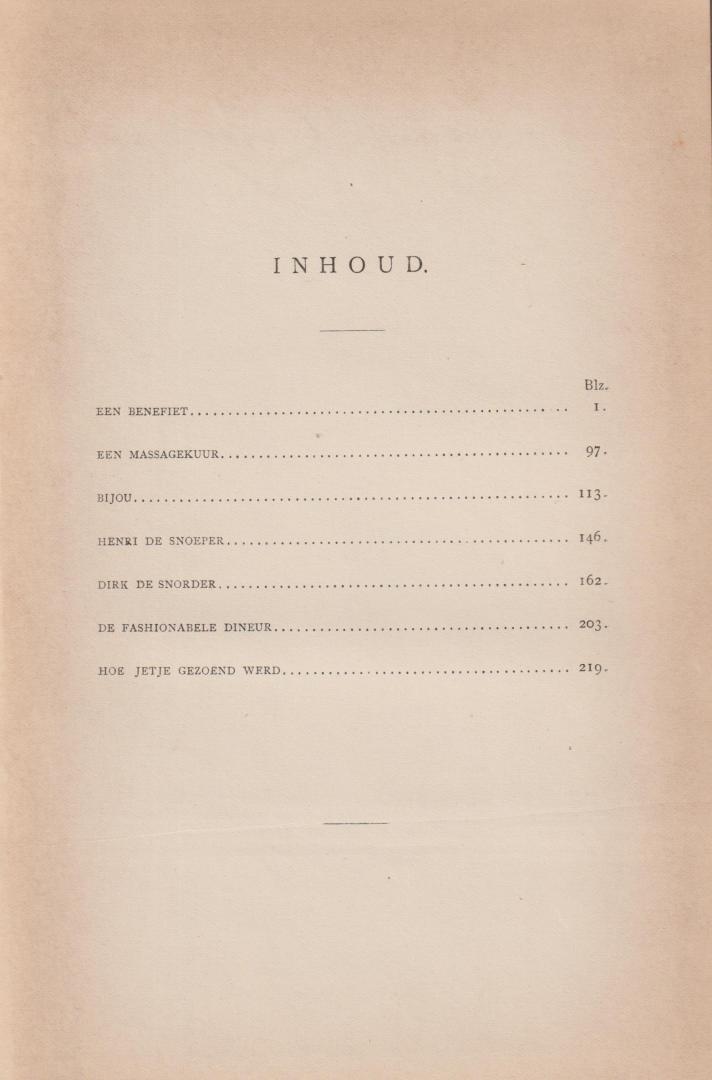 Maurik jr. (Amsterdam 16 August 1846 - 18 November 1904), Justus van - Papieren kinderen - novellen en schetsen. Met platen van Johan Braakensiek