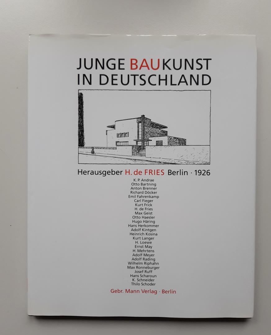 Fries, H. de - Junge Baukunst in Deutschland