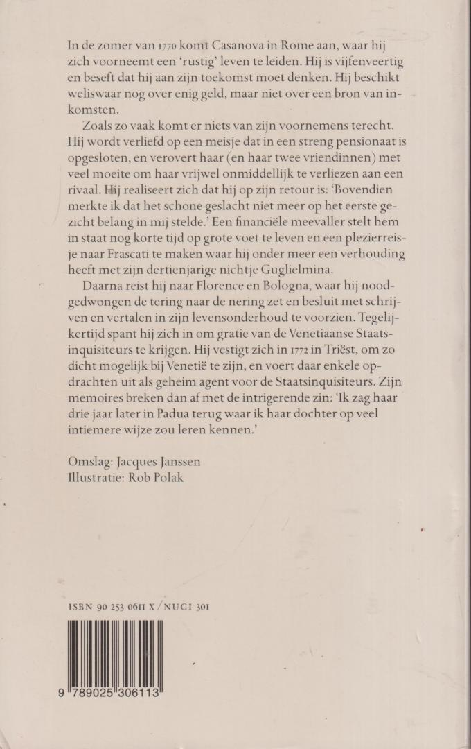 Casanova Chevalier de Seingalt, (Vertaling Theo Kars) Giacomo - Geheim agent. Memoires deel 12. Integrale editie. Vertaald door Theo Kars.