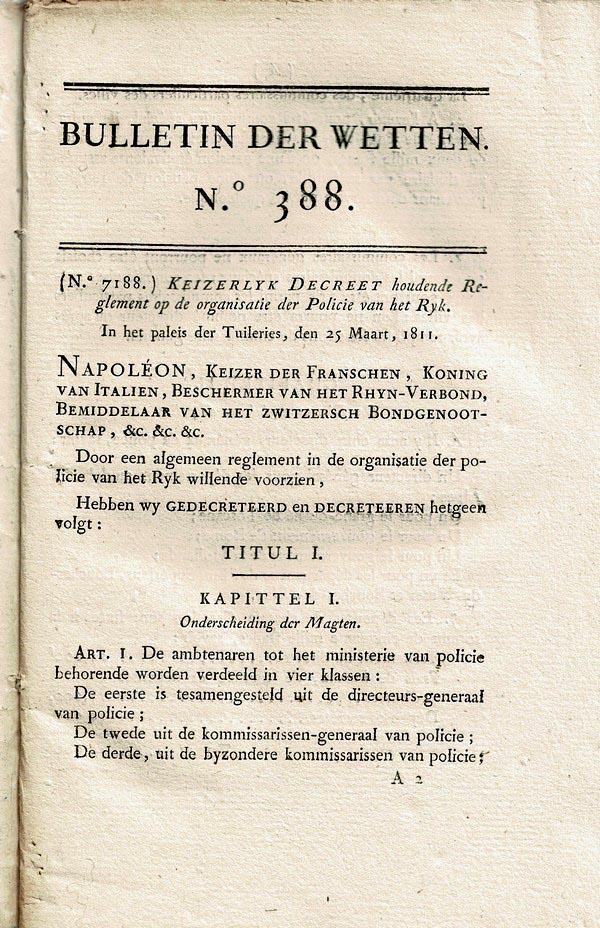 Napoleon - Bulletin der Wetten  388-391 (1811)
