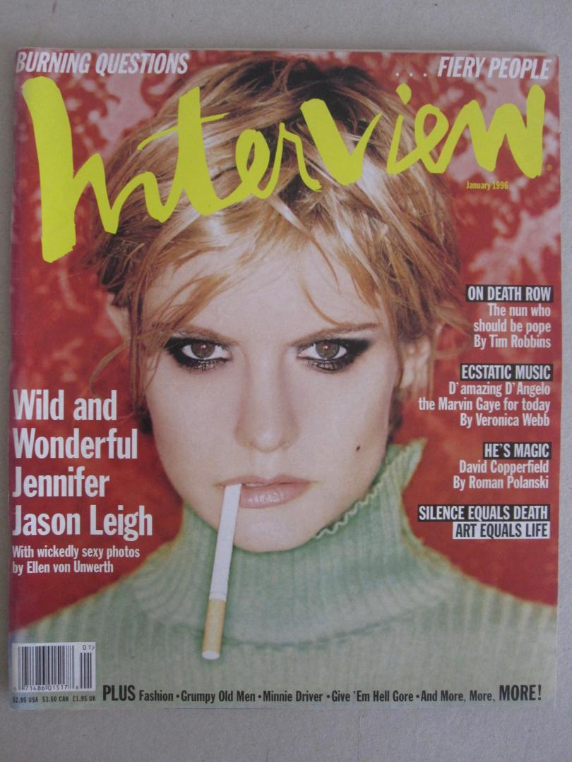Jennifer Jason Leigh (cover) - Andy Warhol's Interview January 1996