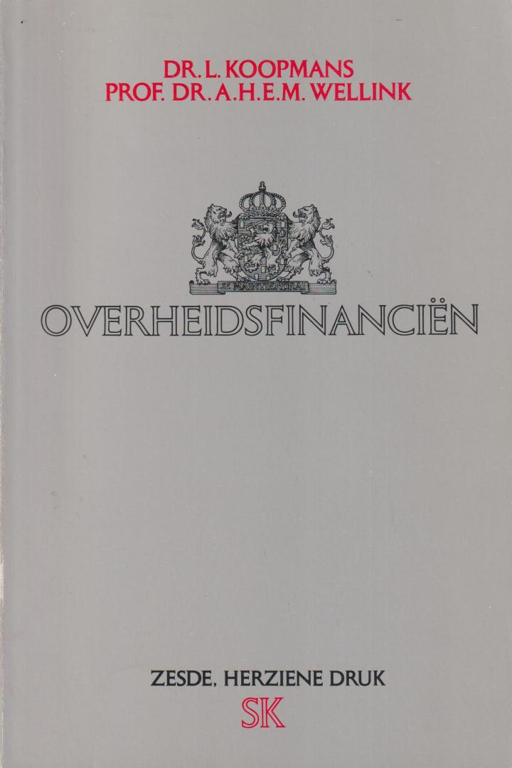 Koopmans, dr. L. en Wellink, prof. dr. A.H.E.M. - Overheidsfinanciën