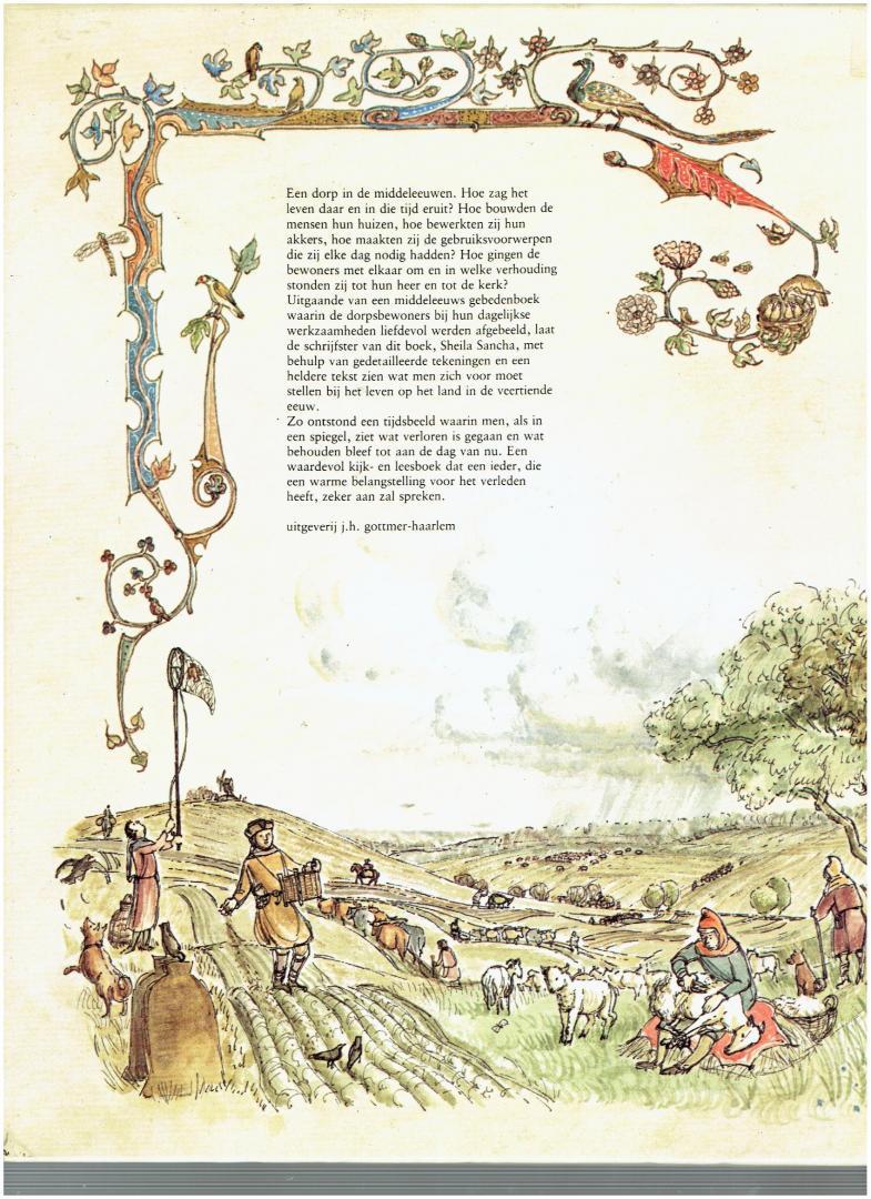 sancha, sheila - van mens en dier, van werk en oogst ( leven in een middeleeuws dorp )