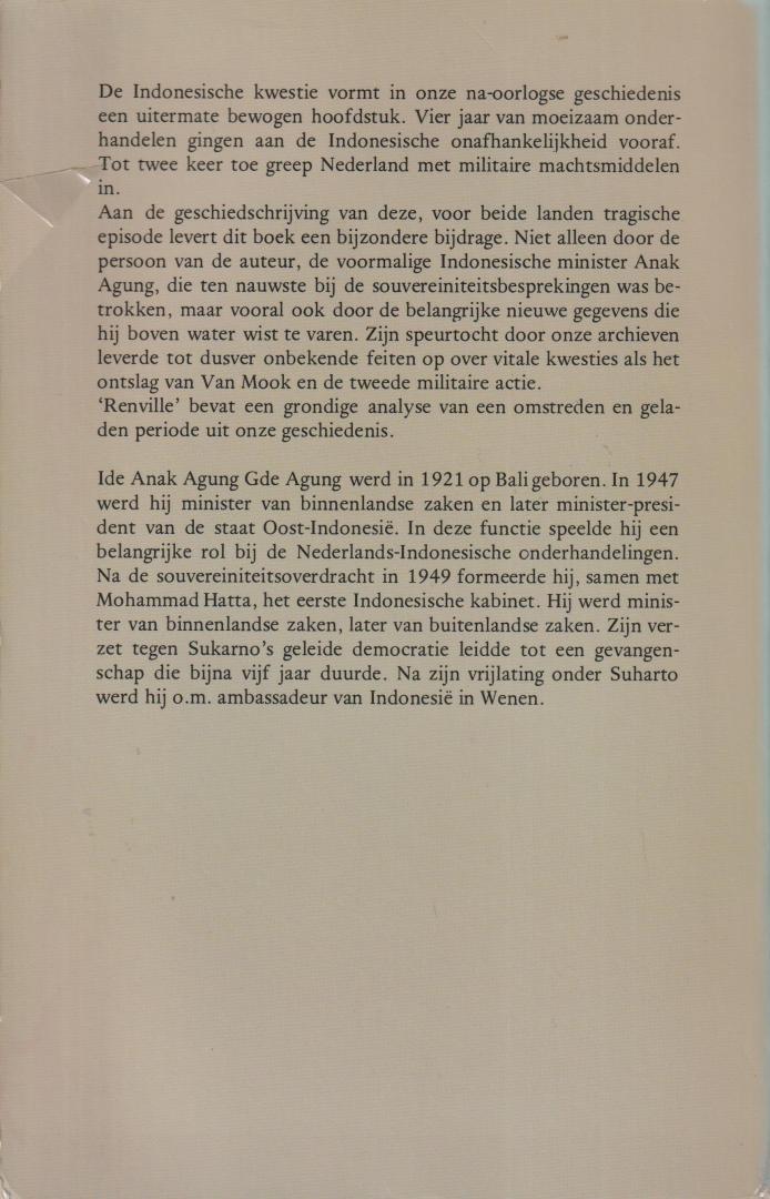 Ide Anak Agung Gde Agung - Renville als keerpunt in de Nederlands-Indonesisiche onderhandelingen. Proefschrift Utrecht, 2 mei 1980 met losse stellingen.