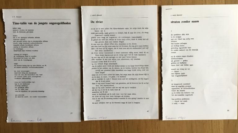 Damsté, J.C. - Aantal (3) knipsels van J.C. Damsté