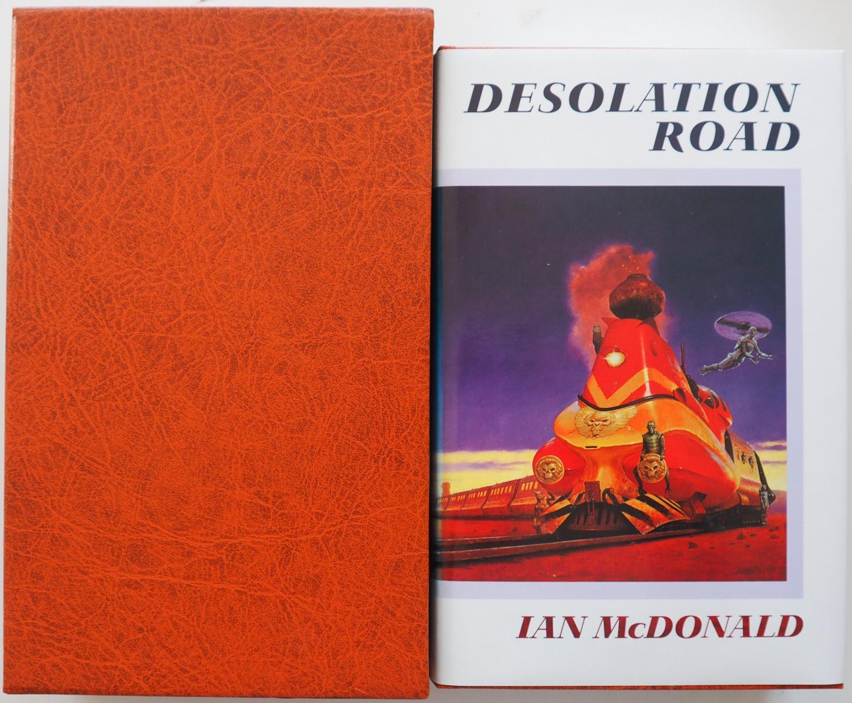 McDonald Ian,  gesigneerd door de auteur, ill.  Edwards Les omslag - Desolation Road Limited Edition No. 042 of 150 Copy`s