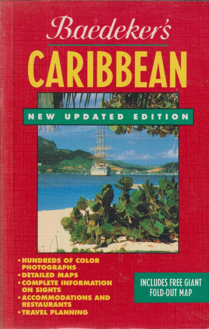Baedeker - Baedeker's Caribbean - New Updated Edition include giant fold-out map