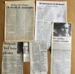 Borgart, Ben - Aantal (5) knipsels over 'Blauwe nachten' van Ben Borgart