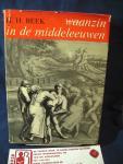 Beek, H.H. - Waanzin in de middeleeuwen ; beeld van de gestoorde en bemoeienis met de zieke