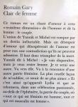 Gary, Romain - Clair de femme (FRANSTALIG)