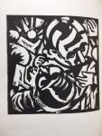 Doesburg, Theo van ; Abe Kuipers (woodcut) - De zwarte vlek Simultaneistische schets