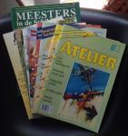 redactie - Atelier Magazine voor tekenaars en schilders 8 nummers: 67-68-69-70-71 (1997) 72-73-74(1998) + Atelier Academie deel 1