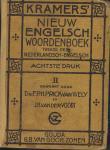 Prick van Wely, dr. F.P.H., & Voort, J.H. van der - Kramers' nieuw Engelsch woordenboek: Tweede deel Nederlandsch-Engelsch