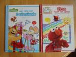 Drie boeken van Sesamstraat / John E. Barrett / Annemarie Visser Illustrator: Wilbert van der Steen - Aan tafel met Ieniemienie + Elmo houdt van spelen + Zoe's dag met papa