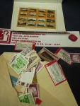 Geen - Postbank enveloppe met zegels over treinen , internationaal