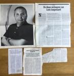 Jongewaard, Leen - Aantal (4) knipsels over Leen Jongewaard