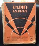 CORVER, J. (redacteur) - Radio-Expres. Weekblad voor radio-telegrafie en -telefonie. negende jaargang 1932 complete jaargang (53 losse nummers