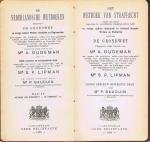 Oudeman, mr. A., & Lipman, mr. S.P. - De Nederlandsche Wetboeken, deel IV: Wetboek van strafrecht - Grondwet
