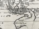 Tirion, Isaak. - Nieuwe kaart van het Oostelijk Deel der Weereld, dienende tot aanwijzing van de scheepstogten der Nederlanderen Naar Oostindië Volgens de laatste ontdekkingen.
