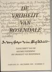Geel, A.A.F. van e.a. (redactie) - De Vrijheijt van Rosendale, jrg. 20, nummer 35.