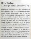 Guibert, Hervé - A l'ami qui ne m'a pas sauvé la vie (FRANSTALIG)