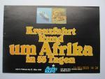 """Flotta lauro • Lauro Lines - Brochure: Kreuzfahrt Rund um Afrika in 55 Tagen vom 2. Februar bis 27. März 1980 mit dem m.s.""""Achille Lauro"""" 24.000 B.R.T."""