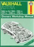 Strasman, Peter G. - Vauxhall Astra Owners Workshop Manual 1980 to Oct. 1984 1196 cc, 1297 cc, 1598 cc en 1796 cc