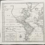 Tirion, Isaak. - Nieuwe kaart van het Westelijkste Deel der Weereld, dienende tot aanwijzing van de scheepstogten der Nederlanderen Naar Westindië Volgens de laatste ontdekkingen.