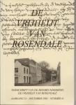 Bogers, M. e.a. (redactie) - De Vrijheijt van Rosendale, jrg. 23, nummer 41.